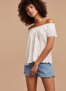 Aritzia Off Shoulder Blouse