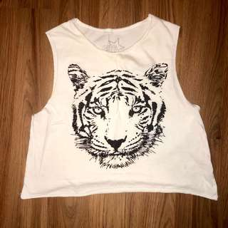 Garage tiger tank top