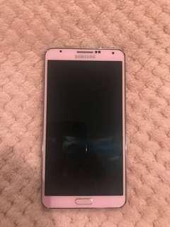 Samsung note3 pink粉紅色三星手機