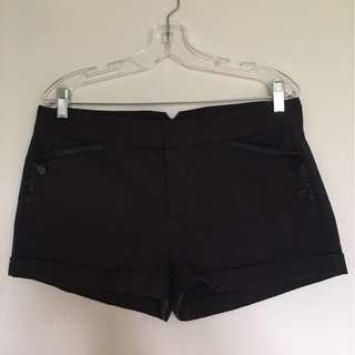 NEW women's Armani Exchange Black Shorts (Size 12)