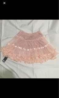 BNWT pastel pink puffy tutu skirt