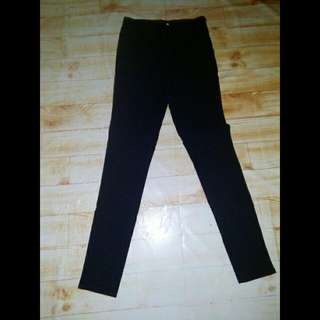 Celana Hw Hitam Mky Jegging Pants Black Highwaist