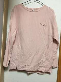 粉紅色襯衣 free size