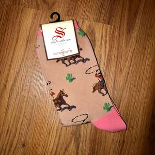 Desert cowboy socks