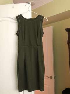 XS Green Pencil Dress