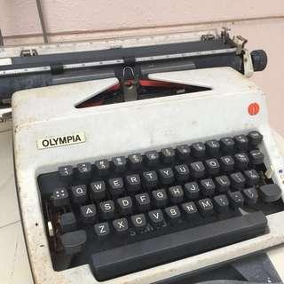 Vintage Typewriter Olympia