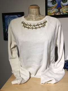 Juicy Couture White Blouse Sweatshirt