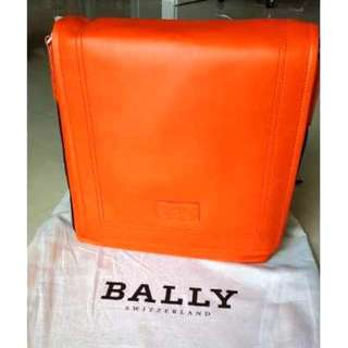 Authentic Bally Leather Messenger Bag