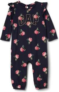 [Authentic] Baby Gap Logo Floral Ruffle One Piece