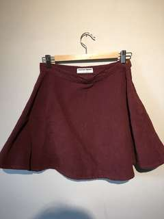 American Apparel Burgundy Skirt