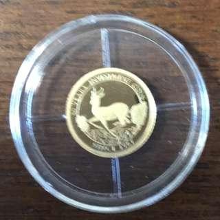 14 K金幣,50法郎CFA克魯格蘭德, 14 K GOLD COIN,  50 Francs CFA Krugerrand