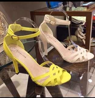 Primadonna yellow heels(brand new)