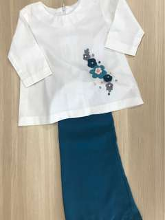 Baju kurung cotton for kid