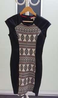 Springfield dress bodycon dress (Black)
