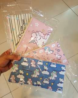 Unicorn Pouch (can used as pencil case or make up kit)