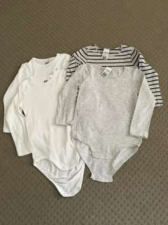 Size 2 Long Sleeve all in one singlets Bundle