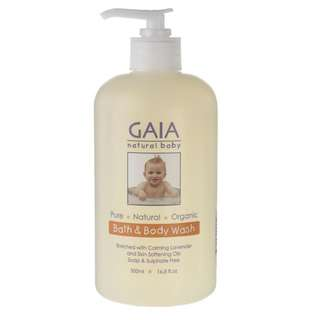 Gaia Natural Baby Bath & Body Wash 500ml Pump