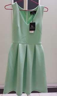 DW V neck sleeveless dress (tiffany)