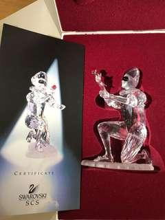 正版Swarovski Annual Edition 2000 年限定小丑水晶擺設 (附設計師簽名)