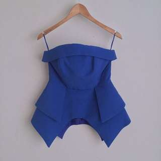 Cameo Peplum Top