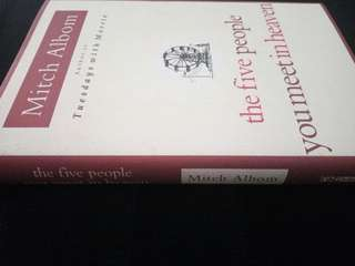 The Five People You Meet In Heaven. Hardcover. Mitch Albom.