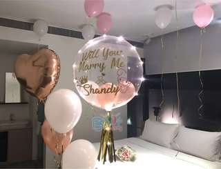 "24"" personalised balloons for wedding proposal"