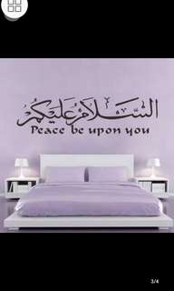 ✔Limited Stock Large Size Muslim Art Islamic Calligraphy Wall Stickers Living Room Halal Arabic Living Room Bedroom Creative Background Wall Stickers Carved Removal Waterproof Environmental Protection / Home Decor ⚜Size W154*H42cm