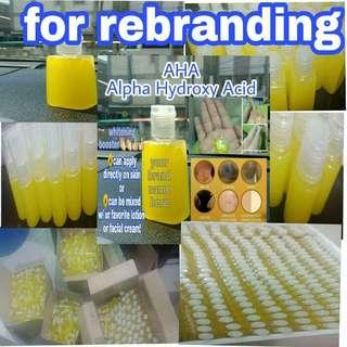 AHA serum for REBRANDING!! Minimum of 50pcs 60 pesos!!! 150 each
