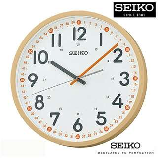 Seiko Light Wood Wall Clock