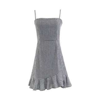 BNWT Gingham Ruffle Casual Dress
