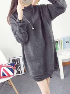 Thick knitted winter sweater