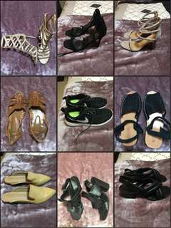 BRANDED SHOES ALL SHOES $5 each WHEN BUYING TWO PAIRS ALL SHOES GREAT CONDITION SOME NEVER WORN SIZES 7-8 SCROLL THROUGH PHOTOS SEE OTHER LISTINGS FOR MORE SHOES