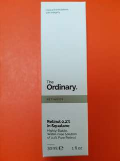 Ready stock The Ordinary Retinol 0.2% in Squalane