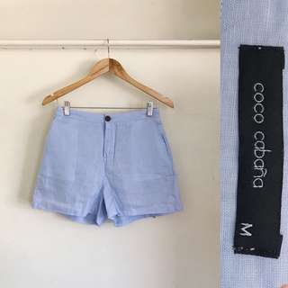 Coco Cabana Baby Blue HW Shorts