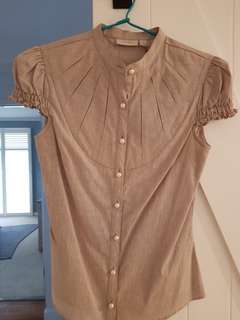 Ojay bib pleat blouse (Aus size 6)