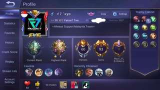 ACCOUNT ML SABER LEGEND