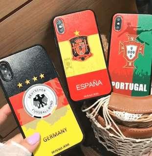世界盃拋光浮雕手機殼,邊膠防跌防爆,抗油防污