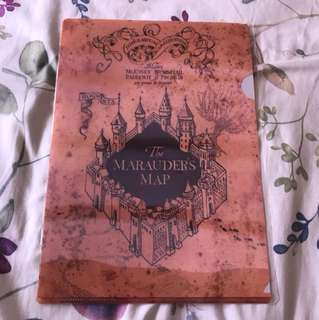 Bn Brand New sealed Harry Potter The Marauders Map file folder staionery