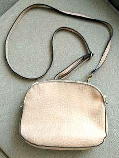 Parfois salmon leather crossbody bag