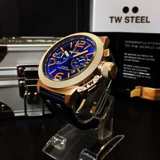NEGOTIABLE ~Brand New TW Steel Canteen Chronograph Sunray Blue Watch