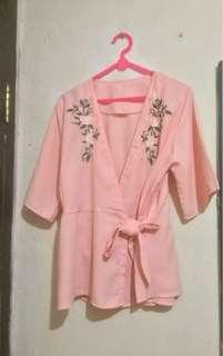 Kimono ikat pink