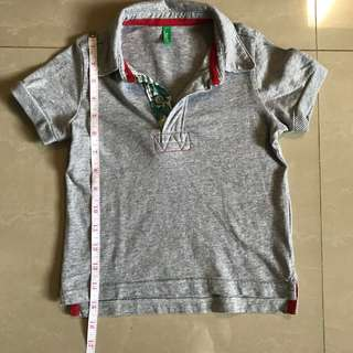 United Colors Of Benetton Grey Polo Shirt