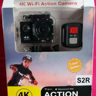 Action cam with wifi & remote