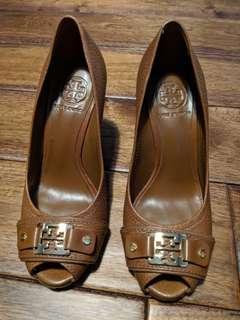 Tory burch wedge sandals sz6 barely worn