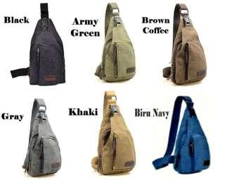 Tas slempang pria bodypack bag tas praktis berpergian sling bag