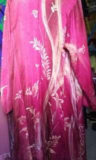Baju Kurung Satin Silk