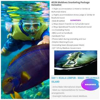 4D3N MALDIVES SNORKELING MUSLIM PACKAGE