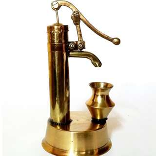brass hand pump for display n home decor gift