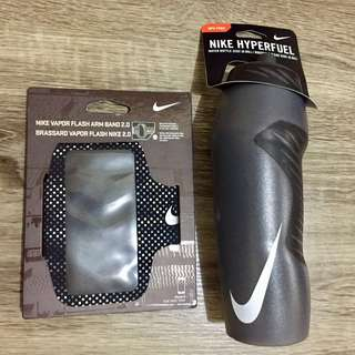 Black NIKE 32oz Water Bottle and Arm Band Bundle