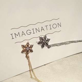 Snowflake necklace (SILVER)